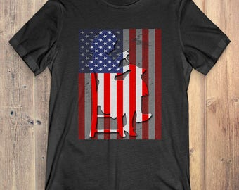 Sewing T-Shirt Gift: American Flag