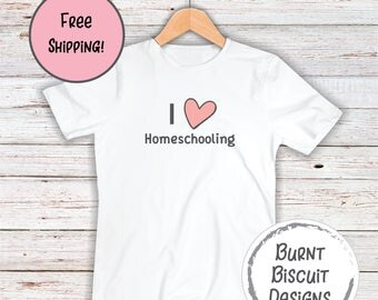 I Heart Homeschooling Homeschool Shirt