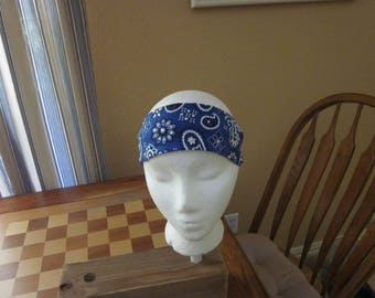 Purple Bandana Print Headband with Rhinestones