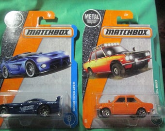 Matchbox Die Cast Cars , '70 Datsun 510 Rally and Dodge Viper GTS-R  New in package!