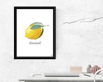 Lemonade digital art print (2 styles included)