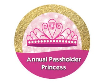 Hot Pink and Gold Shimmer Tiara Annual Passholder Button - Princess Button - Theme Park Button - Disney Park Pin - Annual Pass Holder Button