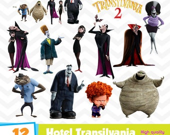 Hotel Transylvania Clipart, Hotel Transylvania PNG Files, Digital Designs, Party Printables, Birthday Party, Instant Download, Funny-011