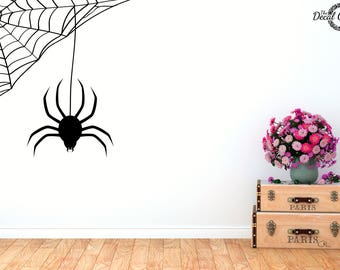 Spider Decal, Spider Sticker, Halloween decal, Laptop Sticker, Macbook Decal, Wall Decal, Vinyl Sticker, Vinyl Decal, Phone Sticker