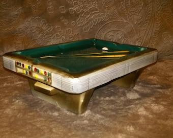 Vintage 1970's pool table ashtray
