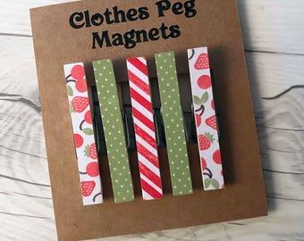 Clothes Peg Fridge Magnets