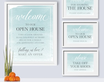 Real Estate - Welcome to Our Open House | Please take off your shoes | Open House Signs • PDF and JPEG • Instant Download