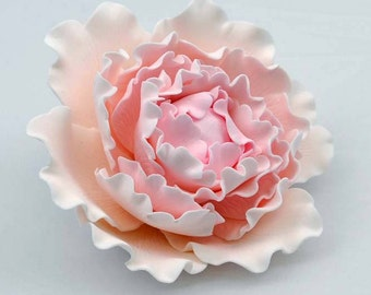 Curled Peony 14cm Sugar flower wedding birthday cake decoration topper