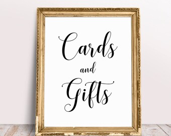 Cards And Gifts Sign, Wedding Signage, Cards And Gifts Wedding Sign, Wedding Prints, Wedding Printables, Reception Signs, Cards Sign