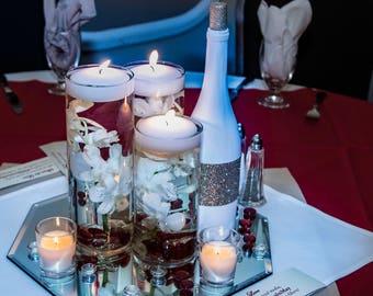 Glitter Wine Bottle Centerpiece, Table Number, or Decor