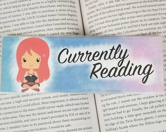 Currently Reading - Bookish Bookmark - Multiple Hair Colors Available