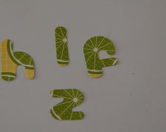 Alphabet lime 120 scrapbooking elements