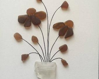 Sea Glass Flowers unframed art