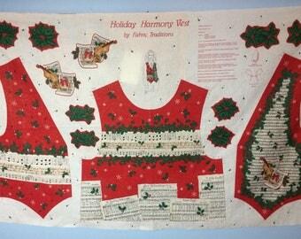 Vintage Holiday Harmony Vest fabric to sew!