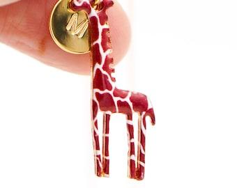 Giraffe Necklace Giraffe Charm Necklace Giraffe Pendant Animal Jewelry Animal Necklace Safari Necklace Giraffe Jewelry Giraffe Pendant