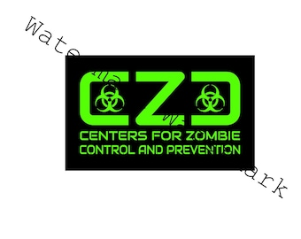 CZC SVG and Studio 3 Cut File Cutouts Files Stencil for Silhouette Cricut SVGS Team Stencils Decals Decal Zombie Outbreak Control Response