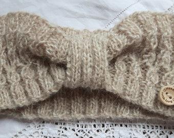 Jeagar hand knitted alpaca headband