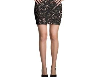 We Should All Be Feminists Mini Skirt