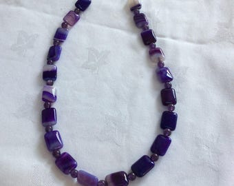 Purple agate and amethyst
