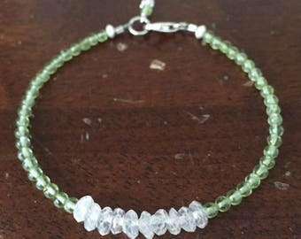 Peridot & Rose Quartz Layering Bracelet