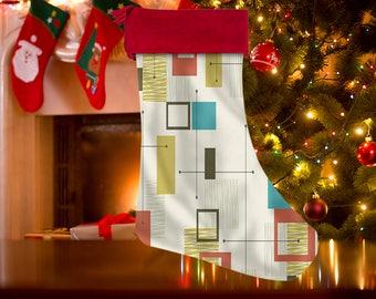 Mid Century Modern, Christmas Stocking, Mid Century Decor, Holiday Stocking, Vintage Stocking, Retro Stocking, Gift Stocking