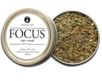 FOCUS Herbal Blend - Chakra Tea, Herb Blend - Herbal Magic, Diy Herbal Blend, Chakra Blend, Herbal Tea Blend, Herbal Soak, Herbal Bath Salts