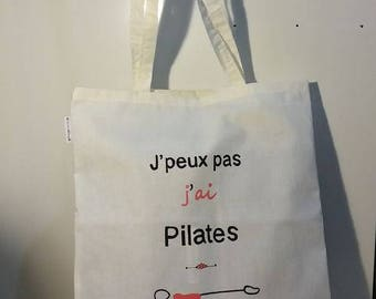 """Tote bag """"I can't, I have Pilates"""" - lining"""