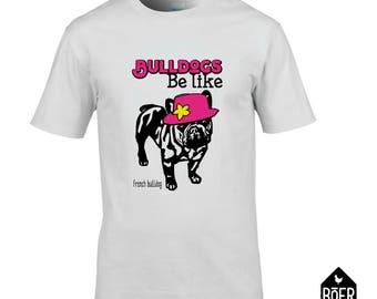 French Bulldog, T-shirt, white, size S, M, L, XL