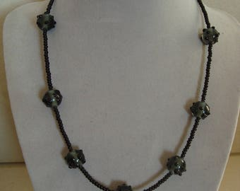 Fashion necklace simple Black Pearl