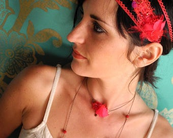 Parisian embroidered Blossom Crown