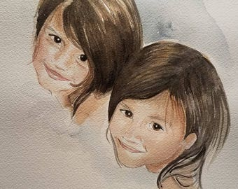 Watercolor Portraits of Children