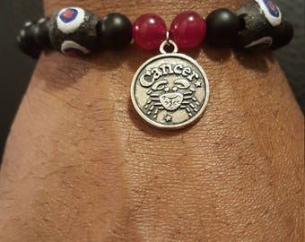 Cancer Male Zodiac Bracelet