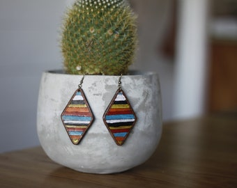 Serape Collection Denise Earrings | Leather Earrings | Birthday Gift | Anniversary | Gifts under 25 | Handmade | Gifts for Her