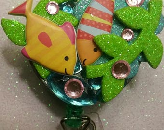 Fish Diving RETRACTABLE BADGE HOLDER