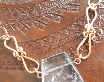 Amethyst Handmade Chain Copper Jewelry Amethyst Necklace Pendant