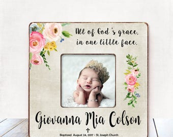 Baptism Gift GIRL Christening Gift GIRL Personalized Picture Frame Baptism Gift for Goddaughter Gift Goddaughter Baptism Gift Christening 12