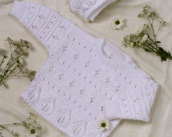 Sweater and Bonnet, Knitting Pattern, Instant Download.