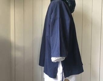 PerTin Vintage Japanese Indigo Noragi Samue Kimono.