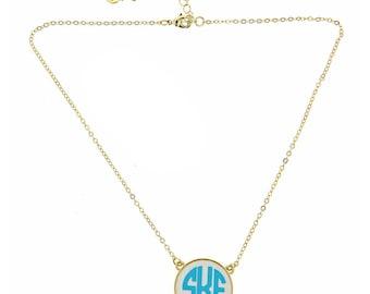 Custom Monogrammed Gold Necklace