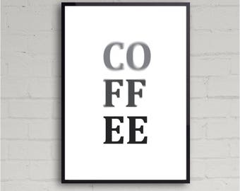 Coffe time | Printable Wall Art Design | Home Decor | Instant Download | Various Sizes | Contemporary Art