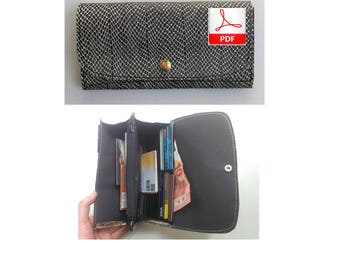 Wallet Patterns for Women - Leather Pattern PDF to Make this Women Leather Wallet, Sewing Pattern