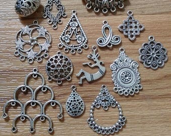 Silver Charms ~ Jewelry Supplies ~ Findings ~ Pendants ~ Set of Charms ~ Jewelry Making ~ Necklace ~ Bracelet ~ Earrings ~ Dangling Charms