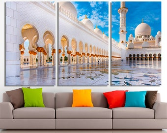 Arabic Mosque, Mosque canvas, Mosque poster, Mosque photo, Mosque print, Mosque wall art, Mosque wall decor, Mosque home decor