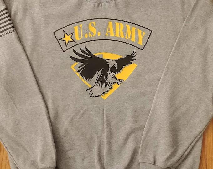 Army - Army Sweatshirt - Army Veteran - Mens Army Shirt - Womens Army Shirt - National Guard - Army Wife - US Army - Army Crew Neck