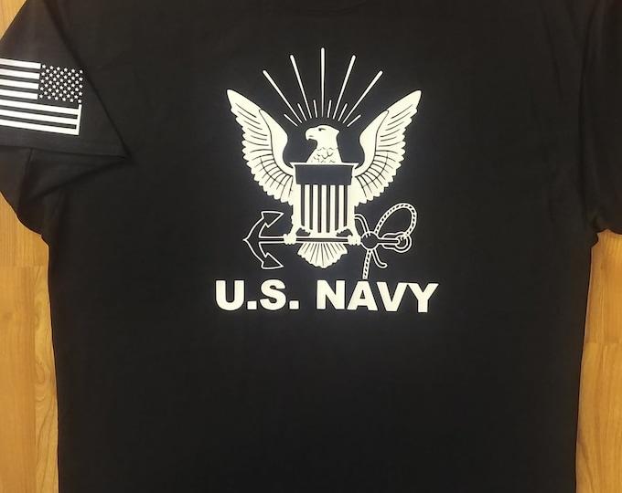 US Navy - Shirt - XLarge - Black/White - Free Shipping