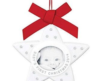 Swarovski #5064274 Baby's First Christmas Ornament, Annual Edition 2014 NIB