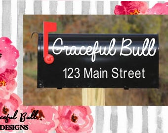 Mailbox Vinyl Decal // Personalized Mail box