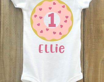 Donut birthday shirt, birthday shirt, donut birthday party, donut shirt, donut birthday, donut party, doughnut birthday, donut onesie, donut