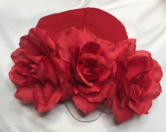 Chained Red Rose Beanie