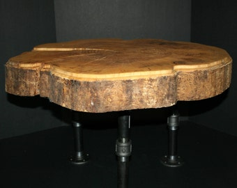 Natural Wood Cookie Cut Table